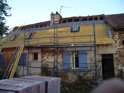 Roofing work in dordogne